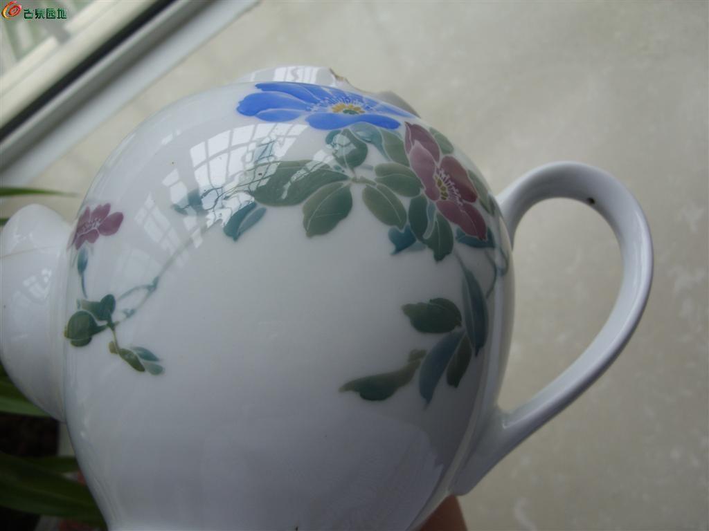 蓝款湖南醴陵釉下彩茶壶! - 历代陶器瓷器 - 古泉
