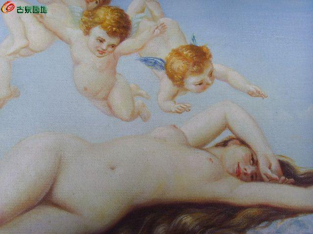 老油画 维纳斯的诞生图片