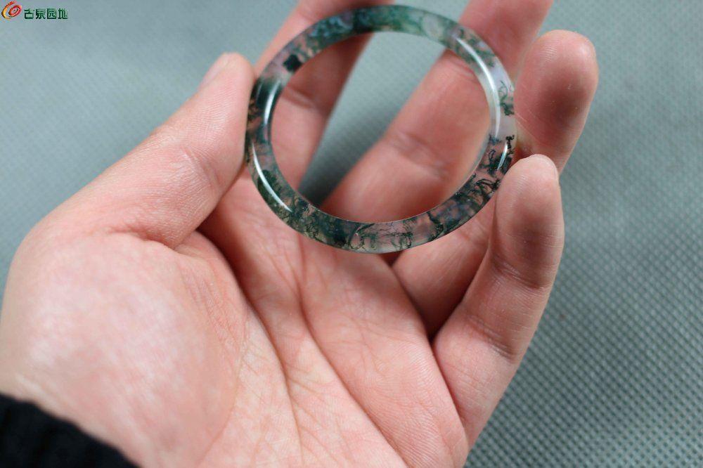 水草玛瑙小环 - 金银玉器