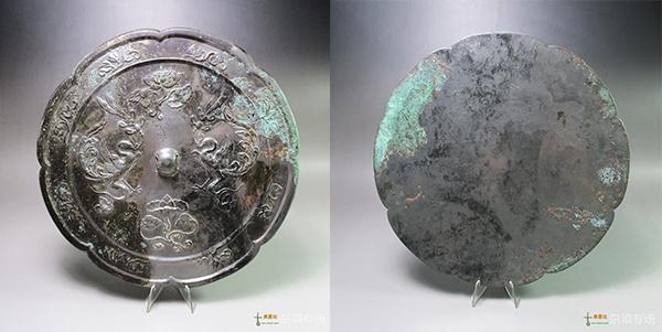 唐 大型双鸾衔绶 镜